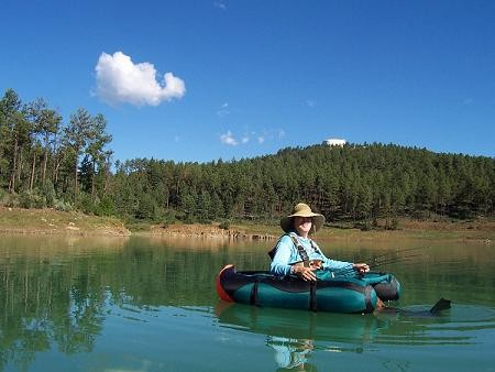 Jane at Grindstone Lake, Ruidoso New Mexico c. Yvonne Lanelli 2005